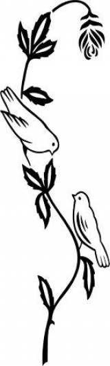 Gravstein 5336 blomsterranke med fugler
