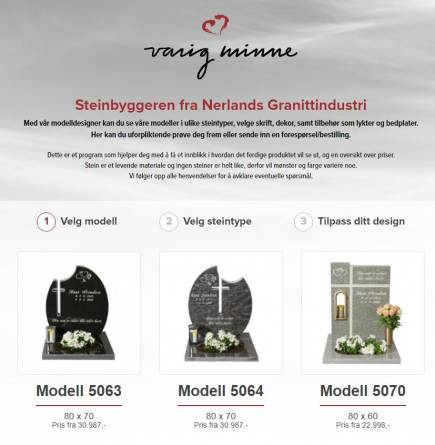 Steinbygger trinn 1 - valg av modell