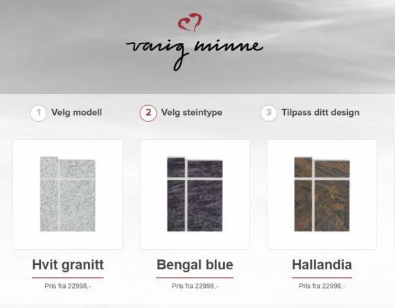 Steinbygger trinn 2 - valg steintype