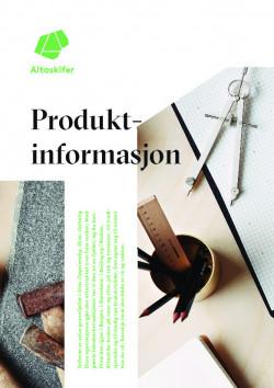 Produkt-/produktinformasjon Altaskifer