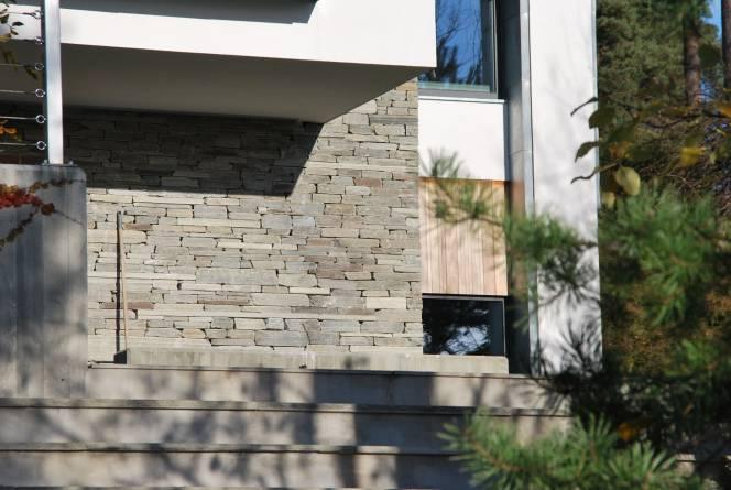 Tørrmur på vegg fra Dovreskifer. Foto: Dovreskifer