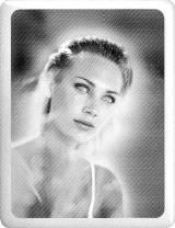 Gravstein Porselensbilde sort hvitt rektangulær 11x15 cm