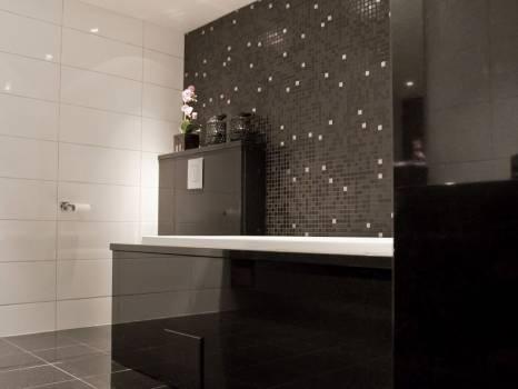 Badekar og toalett-kasserne i Sort granitt. Foto: Nerlands Granittindustri AS