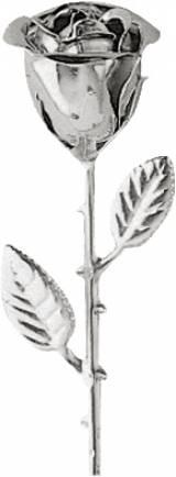 Gravstein Rose 0933 Stål