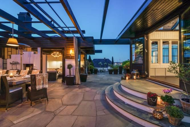 Lys Oppdal bruddheller på terrasse fra MINERA SKIFER