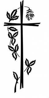 Gravstein 5336 Kors med blomsterranke uten spurver