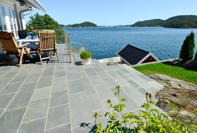Flis i trapp og terrasse fra Altaskifer
