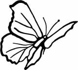Gravstein 5188 Sommerfugl