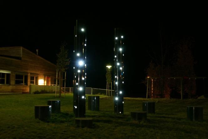 Gaupen Skole utsmykning. Foto: Nerlands Granittindustri AS