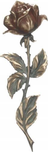 Gravstein Rose 611 farget