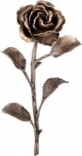 Gravstein Rose 52571 - Bronse - 16 cm