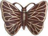 Gravstein Sommerfugl 2827 Rød