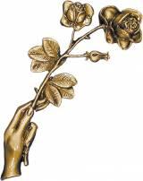 Gravstein Hånd med roser 5651