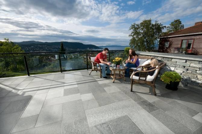 Gulvflis terrasse. Foto: Oppdalsten
