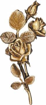 Gravstein Rose 3712 - Bronse - 28 cm