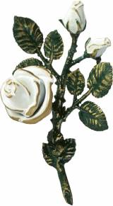 Gravstein Rose P29676 Hvit