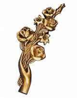 Gravstein Hånd med roser 11224